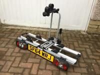 2 Bike Capacity Towbar mounted folding and lockable cycle carrier