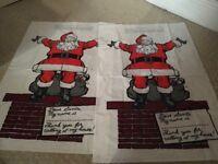 X2 Medium/Large Brand New Santa Sacks