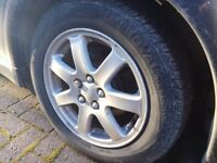 """15"""" Subaru Wheels with Tyres, 195/60/15, PCD 5X100, may also fit Toyota, VW, Seat, Skoda, Audi"""