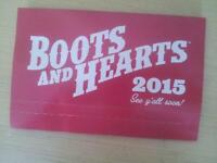 Boots and Hearts Full weekend