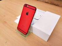 CUSTOM Apple iPhone 6 16GB RED & BLACK (Unlocked) GREATE CONDITION MUST SEE!