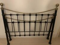 Black metal double bed frame for sale