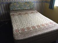 Double Bed with 4 drawer storage and mattress