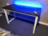 Computer Desk 120x60 With Govee Alexa Smart WiFi LED Strip