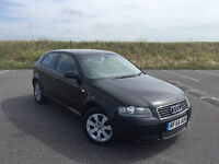VERY LOW MILEAGE AUDI A3 1.9 TDI SPECIAL EDITION IN BLACK FULL SERVICE HISTORY GREAT CONDITION!