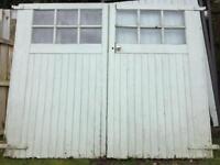 Traditional Glazed Wooden Garage Doors