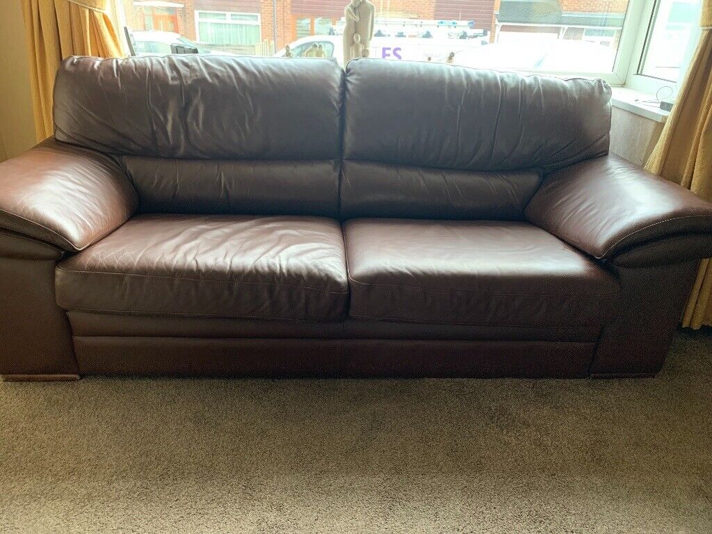 Wondrous Brown Leather Sofas 1X3Seater 1X2Seater Absolutely Gorgeous So Comfy And Top Grade Leather In Denton Manchester Gumtree Spiritservingveterans Wood Chair Design Ideas Spiritservingveteransorg