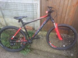 Red and Black Carrera Mountain bike small adult size