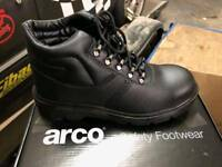 ARCO SAFETY BOOTS STEEL CAP FOR SIZE 8