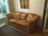 JOHN LEWIS DOUBLE SOFA BED PALE YELLOW FABRIC HARDLY USED