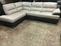 CSL corner sofa in leather