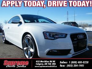 2014 Audi A5 2.0 KOMFORT 6-SPEED/H.SEATS/SROOF