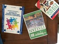 Italian course books and CDs