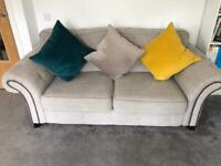 3 & 2 Seater Sofa For Sale - Natural Colour