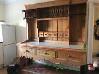 Pine kitchen dresser with marble top