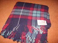 Vintage Swando Travel Rug/ Blanket 100% wool