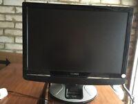 Tecknika black tv with iPod dock