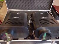 2x GVG Professional Disco lights in flight case