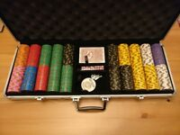 "500 Piece Nevada Jack ""Skull"" Composite Poker Chip Set"