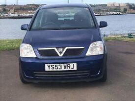 Vauxhall Meriva 1.8, Low miles,full mot p/x to clear, 2003 bargain
