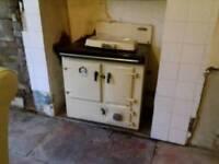 Rayburn (like Aga) solid fuel oven stove back boiler