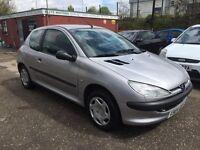 Peugeot 206,1999 V reg, Silver.