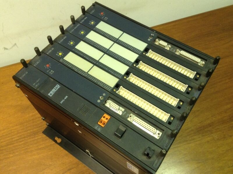 FESTO ELECTRONIC - Type #E.CGT-405-42TE - PLC Rack with 7 Modules