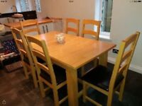 Wow in time for Xmas an extendable dining table with 6 chairs