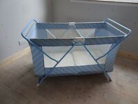 Large Travel cot - folds for storage