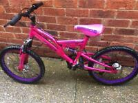 "Girls dunlop full suspension mountain bike 20"" wheels"