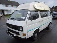 Ideal for surfers and family holidays - White T25 VW Campervan