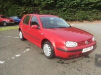 2002/51 VW GOLF 1.6 S 5DR MOT 1 YR EXCELLENT CAR
