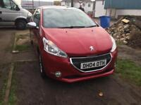 2014 Peugeot 208 style 1.4 hdi, very low mileage, ZERO ROAD TAX