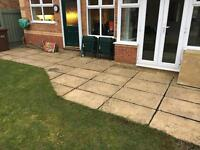 Yorkshire stone patio flags