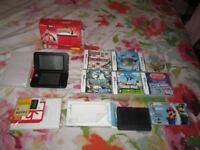 pokemon y boxed 3ds xl console bundle,theres no pokemon y game installed but 6 games