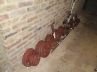 Complete weights set 180 kilo £115 or near offer to clear.
