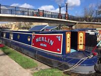 45 foot narrow boat with residential mooring in Limehouse marina