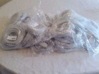 50 GREY CAT 5E PATCH LEADS 5 METRES LONG BRAND NEW