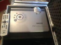 2 x Sanyo PROxtraX Projectors With Flight Case