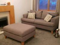3 seater Sofa, chair and footstool for sale