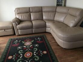 For sale DFS leather corner suite, 6 months old, as new condition, £650 . Mobile no. 07398195974