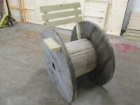 unusual garden seat for sale made from old electric cable reel