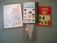 MANAGEMENT/LIFE SKILLS REFERENCE BOOKS (x4)