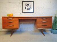 Austinsuite Vintage Mid Century Teak Retro Danish Design Dressing Table Sideboard Desk CR00011