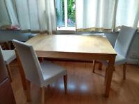 BJURSTA Set Extendable table Oak + 4 HENRIKSDAL chairs 140-220cm INCREDIBLE PRICE!!!