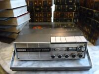 uher 4200 report L,reel to reel four speed stereo tape recorder & (44) 5 inch tapes & tape albums