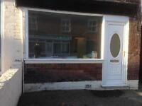 Shop Hasland 2 rooms and toilet £80 p/w easy terms