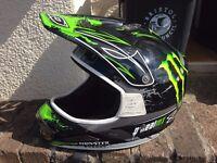 full face oneal bike helmet Monster energy bicycle skateboard bmx skate