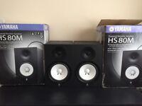 Yamaha HS 80m Active monitors (Pair) (HS-80m HS80m)