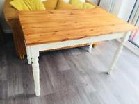 Pine vintage farmhouse dining table